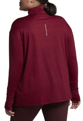 Women's Nike Plus Size Element Running Long Sleeve 1/2 Zip