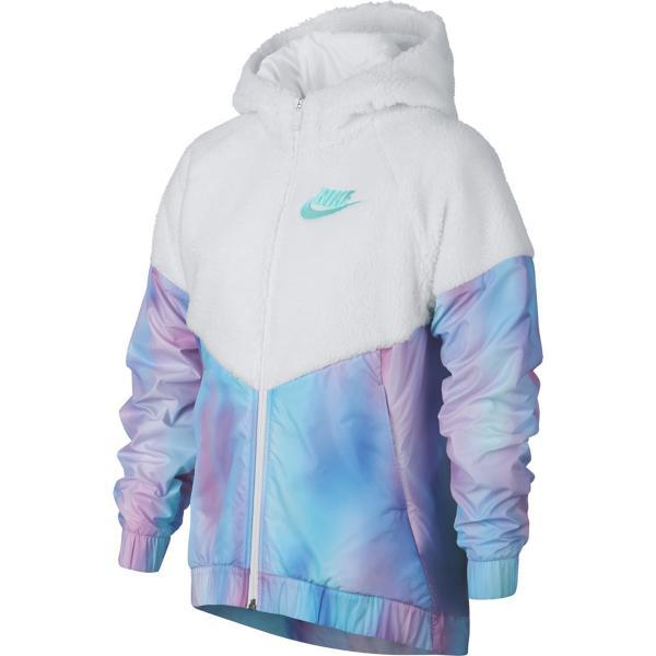 347f47a726 Grade School Girls  Nike Sportswear Fleece Windrunner Jacket ...