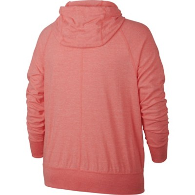Women's Nike Plus Size Sportswear Gym Vintage Full Zip Sweatshirt
