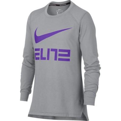 Youth Boys' Nike Dry Elite Basketball Long Sleeve Shirt