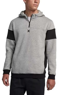 Men's Hurley Surf Check 1/4 Zip Hoodie