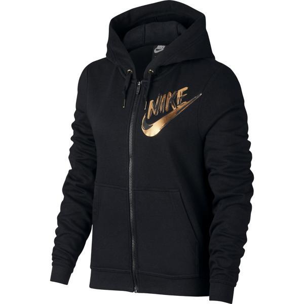 ... Women s Nike Sportswear Metallic Full Zip Hoodie Tap to Zoom  Black 6906991ce2