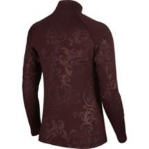 Women's Nike Pro Warm Little Royal Embosses Print Long Sleeve 1/2 Zip