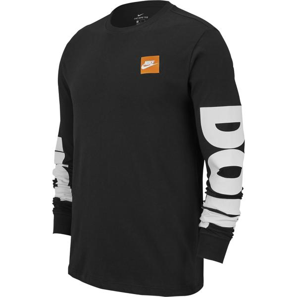 d7c1e04a ... Men's Nike Sportswear Just Do It Sleeve Graphic Long Sleeve Shirt Tap  to Zoom; Black/White Tap to Zoom ...