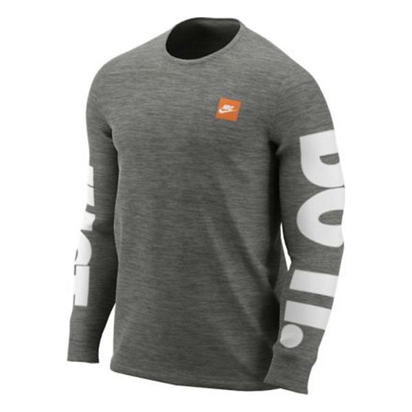 43a5303b ... Men's Nike Sportswear Just Do It Sleeve Graphic Long Sleeve Shirt Tap  to Zoom; Black/White Tap to Zoom; Dk Grey Heather/White