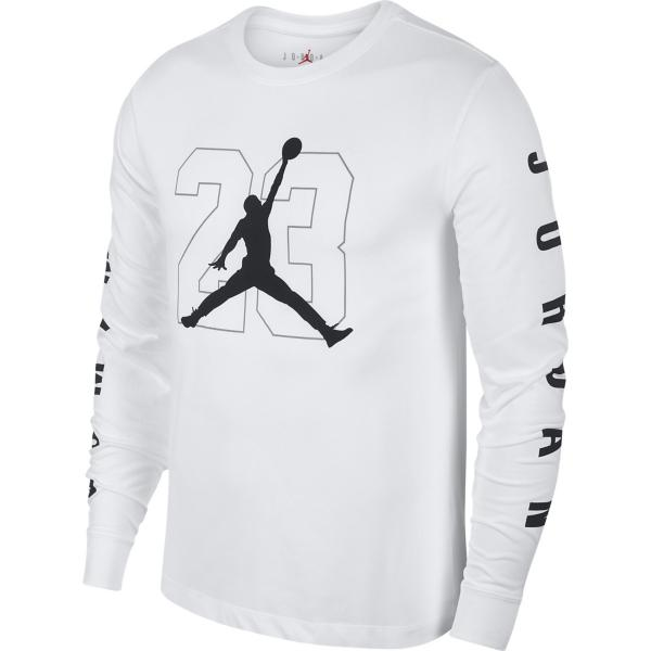 fae2d15227032d ... Men s Jordan Graphic 23 Long Sleeve Basketball Shirt Tap to Zoom   White Black Tap to Zoom ...