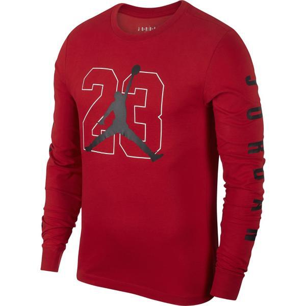 0e22c4bc37e ... Men's Jordan Graphic 23 Long Sleeve Basketball Shirt Tap to Zoom; Gym  Red/Black
