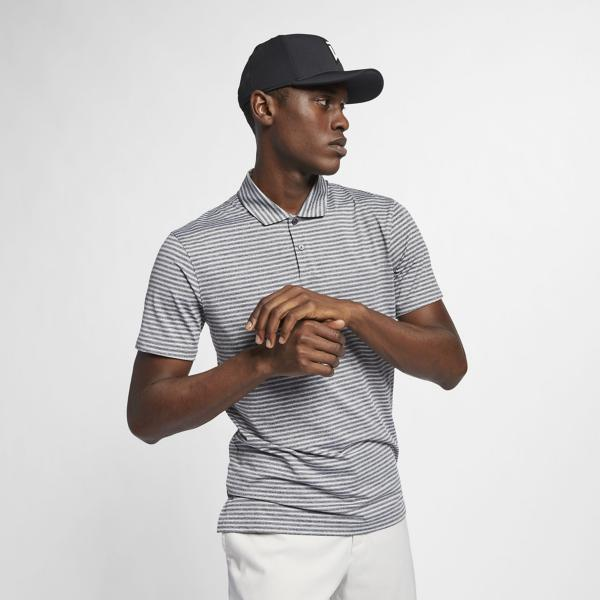 4fd8ceaee ... Men s Nike Dri-Fit Striped Tiger Woods Golf Polo Tap to Zoom  Black Pure