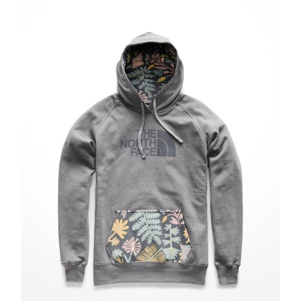 TNF Medium Grey Heather/Medieval Grey Woodland Floral Print