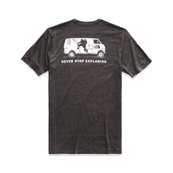 58150acd Tap to Zoom; TNF Dark Grey Heather Tap to Zoom; Fiery Red Heather Tap to  Zoom; Men's The North Face Short Sleeve Pony Wheels Tri-Blend Tee
