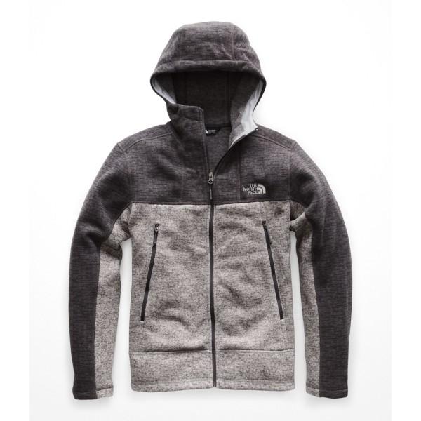 Asphalt Grey Sweater Texture Print/TNF Medium Grey Heather