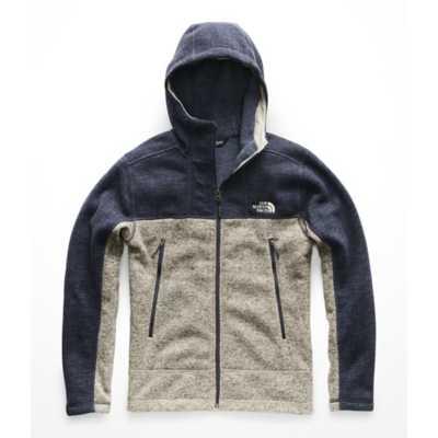 Urban Navy Sweater Texture Print/Granite Bluff Tan Heather
