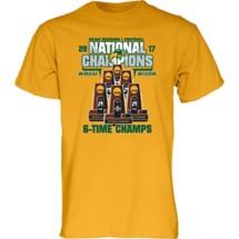 Adult Blue 84 NDSU Trophy 6 T-Shirt