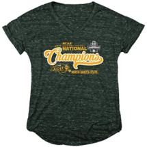 Women's Blue 84 NDSU Champs Script T-Shirt