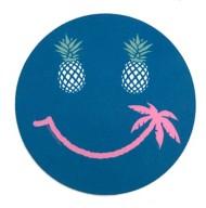Blue 84 Big Grin Sticker