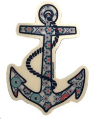 Blue 84 Anchor Sticker