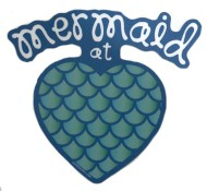 Blue 84 Mermaid at Heart Sticker