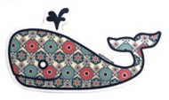 Blue 84 Wish List Whale Sticker