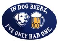 Blue 84 Dog Beers Sticker