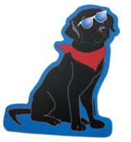 Blue 84 Black Lab Sticker