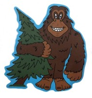 Blue 84 Big Foot Sticker