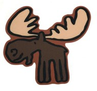 Blue 84 Moose Sticker