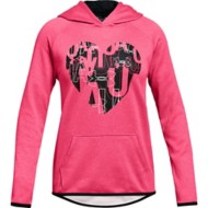 Youth Girls' Under Armour ARMOUR Fleece Heart Hoodie