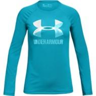 Youth Girls' Under Armour Big Logo Long Sleeve Shirt