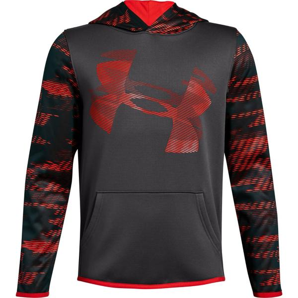 c64c620ff06a ... Youth Boys  Under Armour ARMOUR Fleece Hoodie Tap to Zoom   Charcoal Radio Red