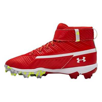 Boys' Under Armour Harper 3 Mid RM Jr. Rubber Molded Baseball Cleats