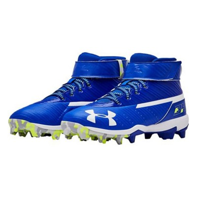 b120052595b Tap to Zoom  Grade School Boys  Under Armour Harper 3 Mid RM Jr. Rubber  Molded Baseball Cleats