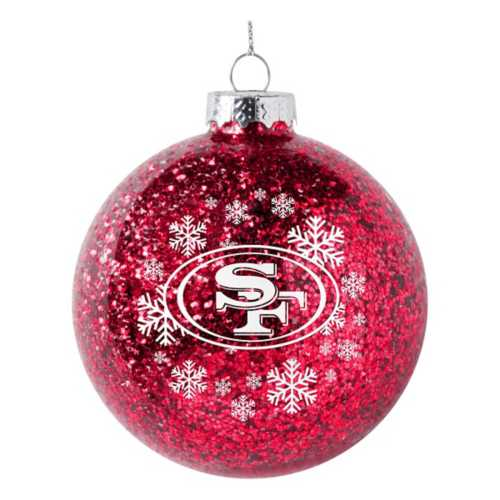 Logo Brands San Francisco 49ers Snowflake Glitter Ornament