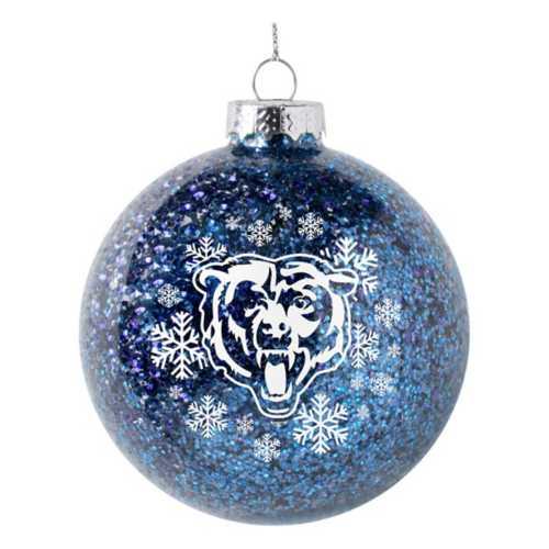 Logo Brands Chicago Bears Snowflake Glitter Ornament