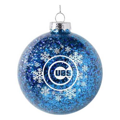 Logo Brands Chicago Cubs Snowflake Glitter Ornament
