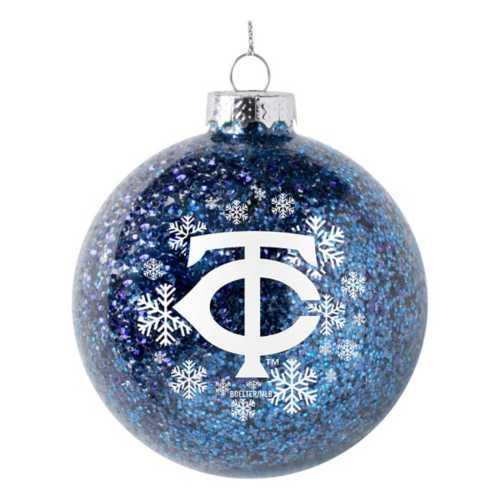 Logo Brands Minnesota Twins Snowflake Glitter Ornament