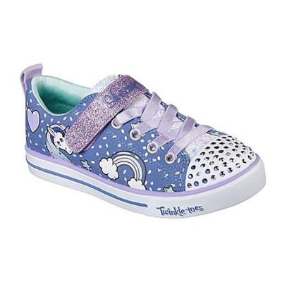 Preschool Girls Skechers Sparkle Lite - Unicorn Craze Lighted Shoe