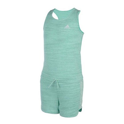 Toddler Girls' adidas Sleeveless Racer Back Transition Romper