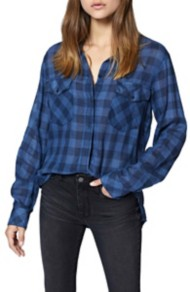 Women's Sanctuary Boyfriend for Life Plaid Long Sleeve Shirt