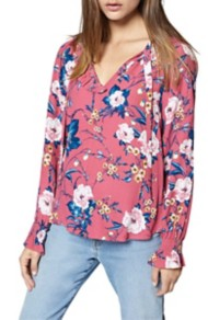 Women's Sanctuary Leighton Floral Ruffle Blouse