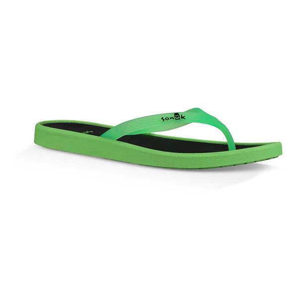 9bc26bbb939 Women s Sanuk Sidewalker Neon Flip Flop Sandals