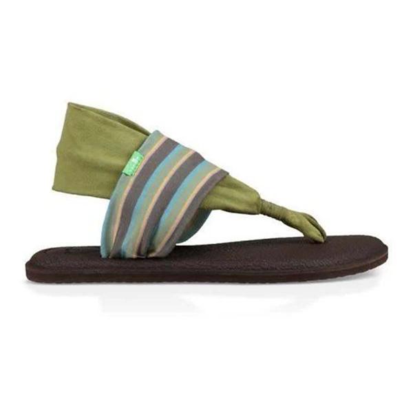 90c5a631a210 ... Women s Sanuk Yoga Sling 2 Striped Flip Flops Tap to Zoom  Olive