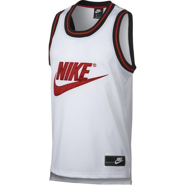 c4f3c6f8 White/University Red Tap to Zoom; Men's Nike Sportswear Mesh Jersey Tank