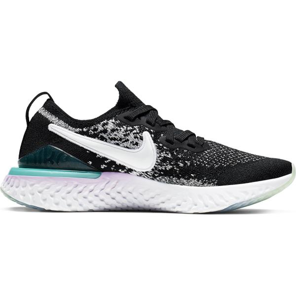 c627503627de6 ... Grade School Girls  Nike Epic React Flyknit 2 Running Shoes Tap to  Zoom  Black White-Bleached Coral-Hyper Jade