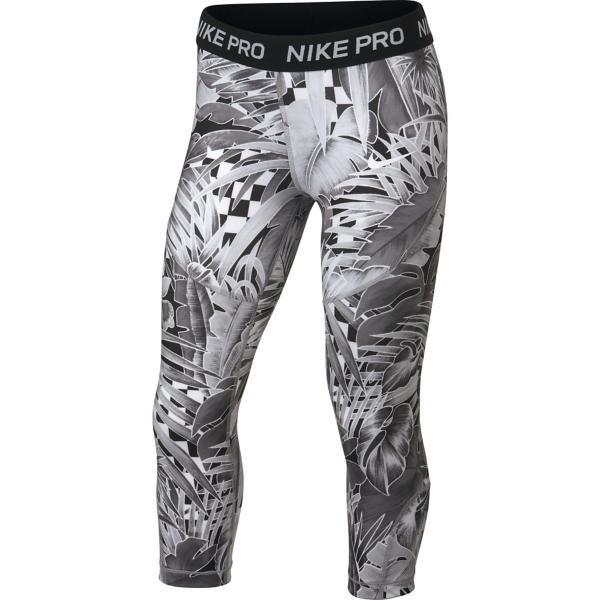 e8bbc8585 ... Girls' Nike Pro Floral Capri Tap to Zoom; Atmosphere Grey/Black/White