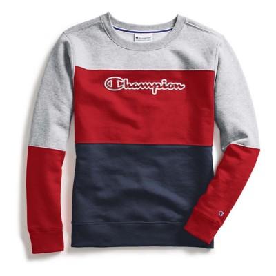 Women's Champion Color Blocked Crew Sweatshirt