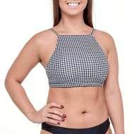 Women's Roxy Printed Beach Classics Crop Bikini Top