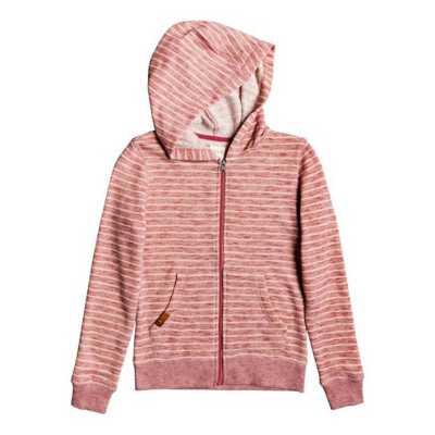 ROXY Girls Pink Knot Zip-up Sweatshirt