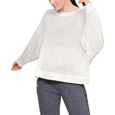 Women's Under Armour Mesh Around Oversize Crew Sweatshirt