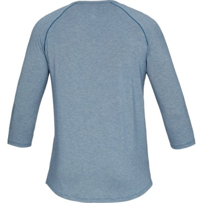 Tap to Zoom  Men s Under Armour Recovery Sleepwear Henley 3 4 Sleeve Shirt be932c33e