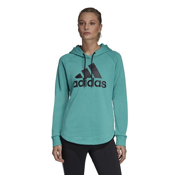 cd58aed2495a ... Women's adidas Must Have Badge of Sport Hoodie Tap to Zoom; Green/Black